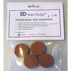 Sonic Design SD Dämpkuddar för subbas 4-pack